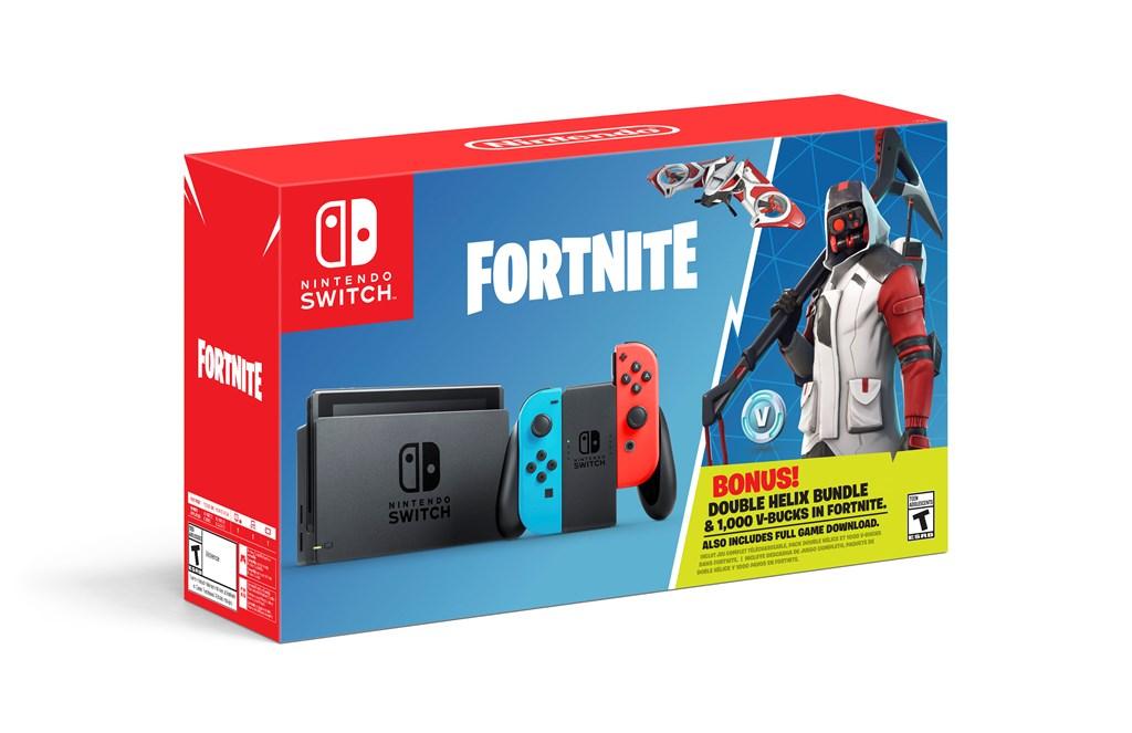任天堂推出《堡垒之夜》同捆版Switch游戏机 赠送1000V币