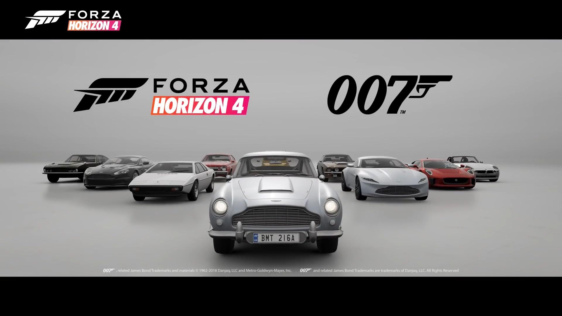 《极限竞速:地平线4》推出传奇特工007专用车辆包