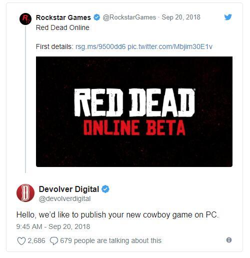 德州某发行商请求R星让其在PC发行《荒野大镖客2》
