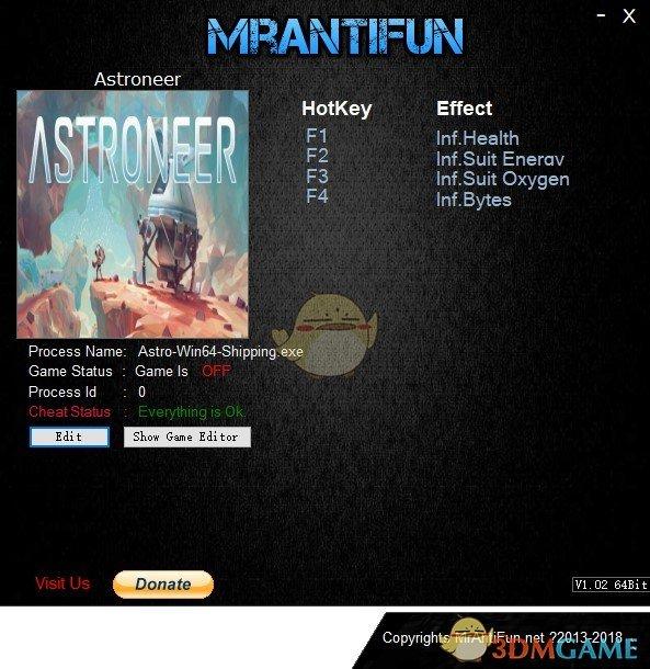 《异星探险家》v1.0.4.0四项修改器[MrAntiFun]