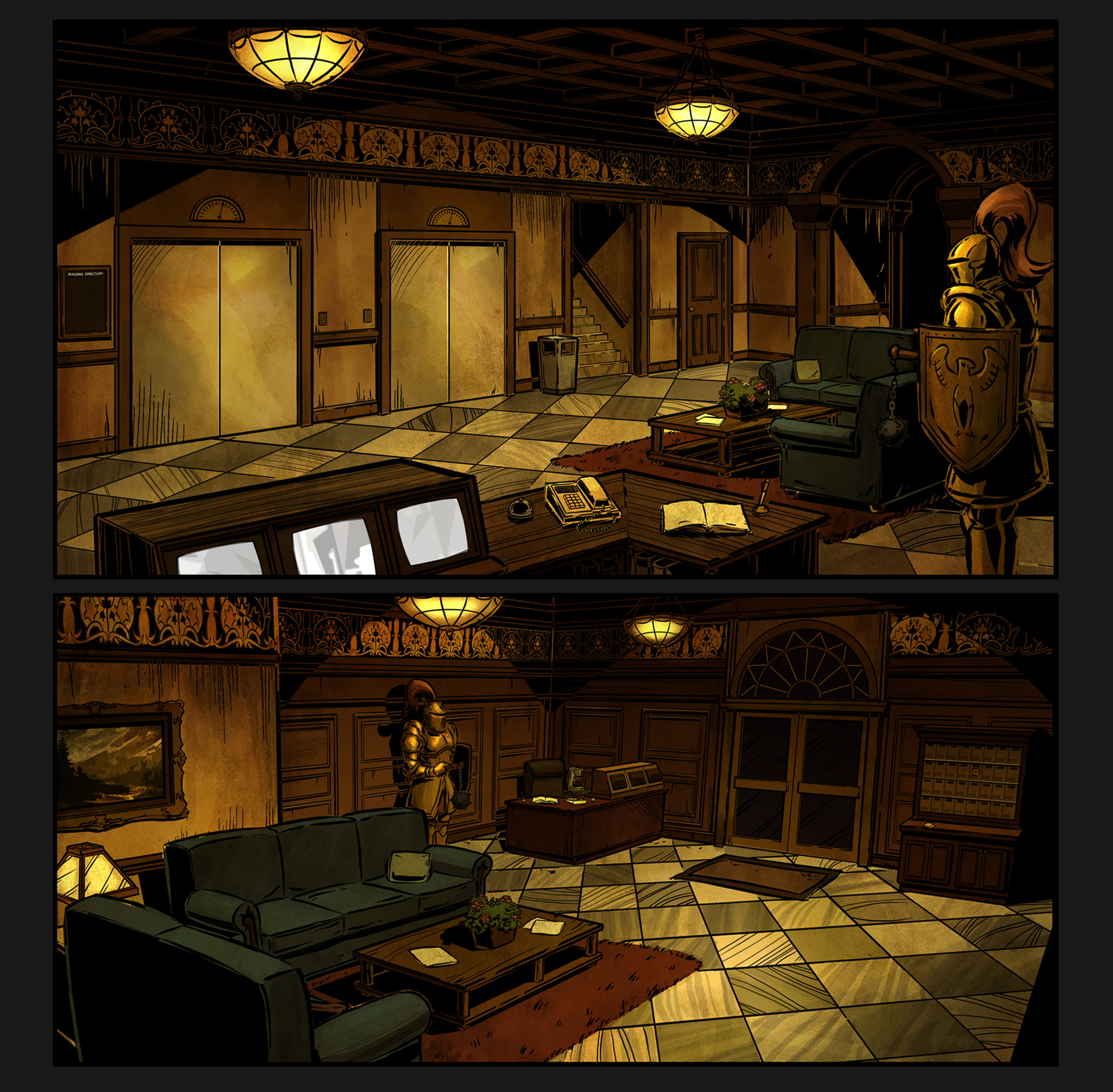 Telltale禦用美術師概念畫 畫風唯美細膩有視覺衝擊感