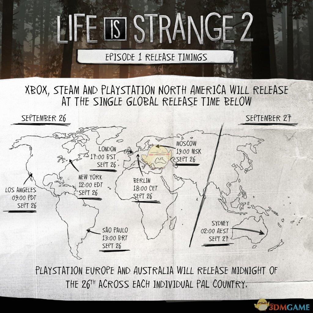 《奇异人生2》全球各地区具体解锁时间一览