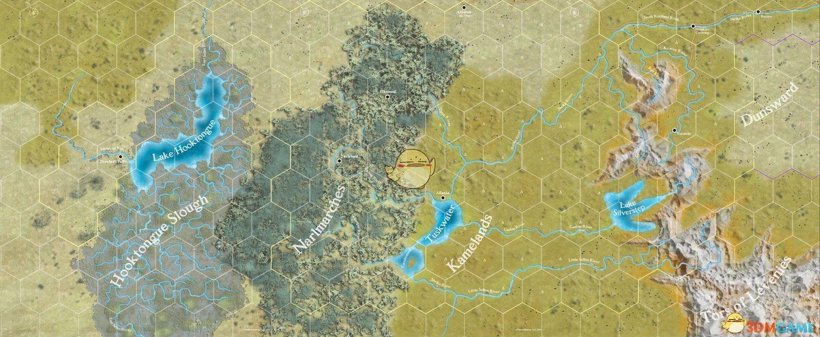 《开拓者:拥王者》地图大小一览