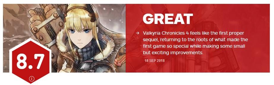 《战场女武神4》IGN8.7分 初代真正的续作