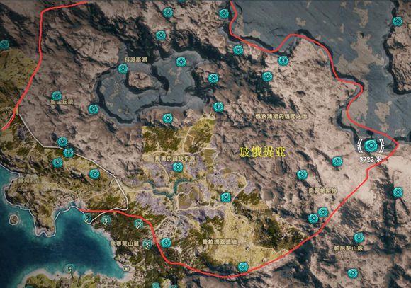 《刺客信条:奥德赛》全奥利哈钢地图位置一览
