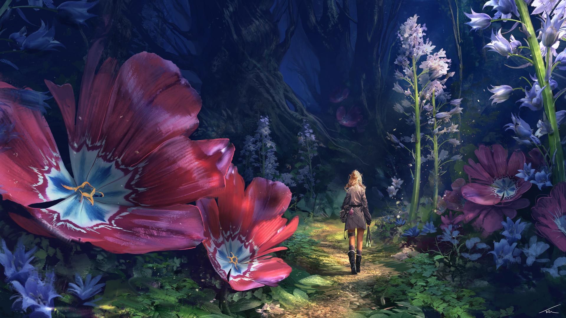 国外游戏工作室美术师精彩概念画欣赏 性感妹子爱养魔宠