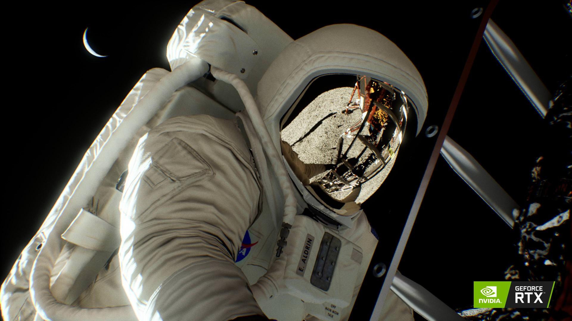 英偉達放出阿波羅登月演示截圖 整體渲染效果更出色
