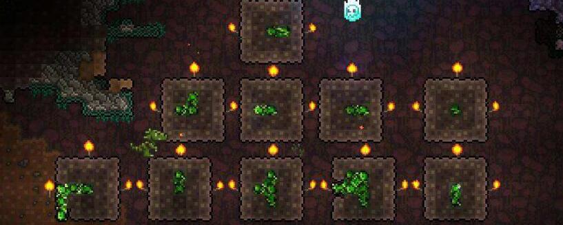泰拉瑞亚叶绿矿怎么挖