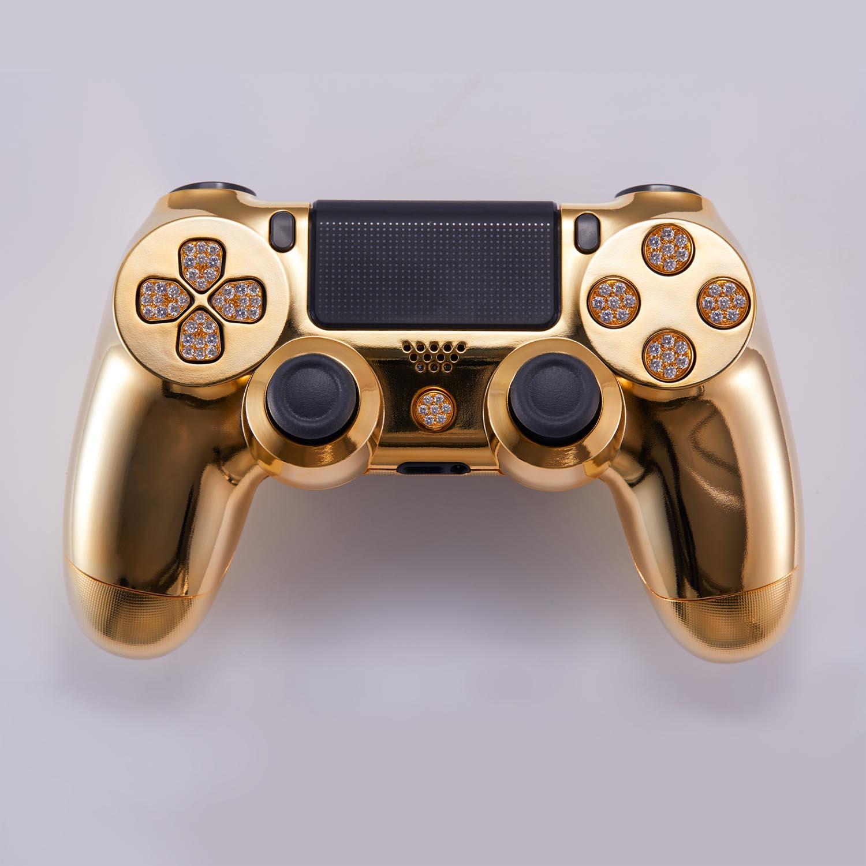 国外厂商推镀金镶钻版PS4手柄 豪华版接近10万元
