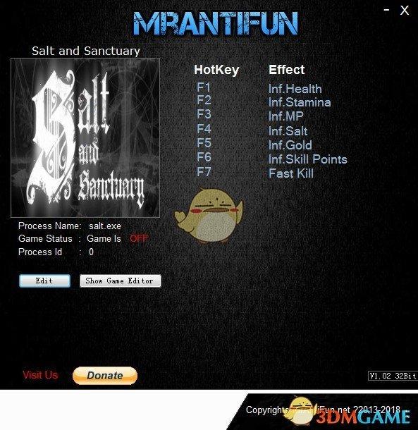 《盐和避难所》v1.0.0.8七项修改器[MrAntiFun]