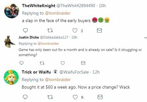 《古墓丽影:暗影》发售后大幅首降 引玩家差评
