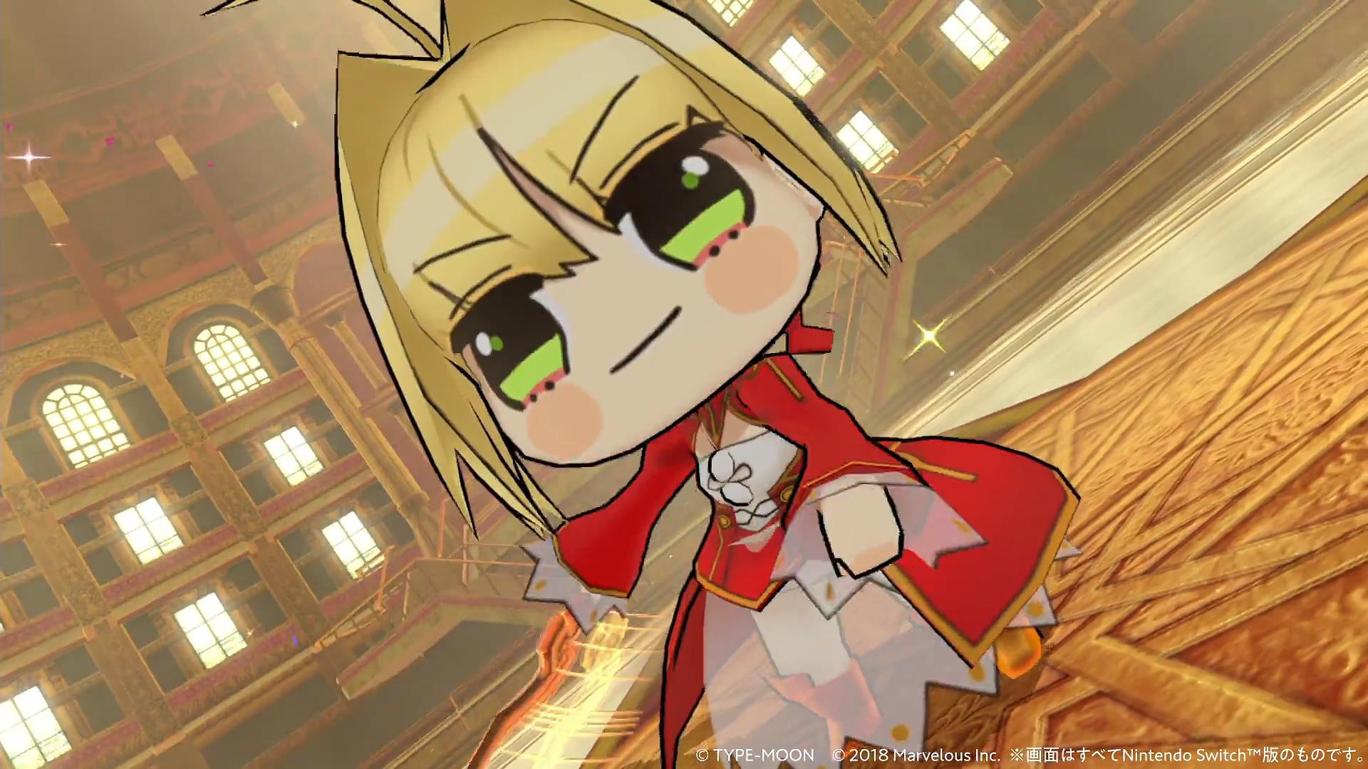 Switch 《Fate Extella Link》 新预告Q版大头妹疯狂割草