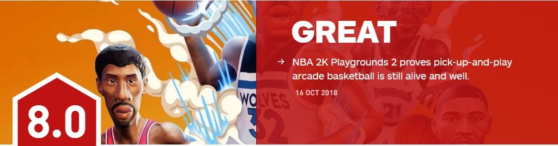 <b>《NBA2K 欢乐竞技场2》 IGN8.0分 篮球游戏永不停息</b>