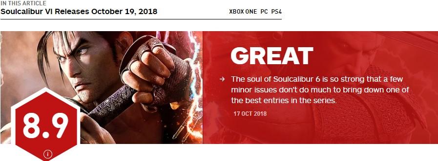 《灵魂能力6》IGN8.9分 六年等待换来的出色作品