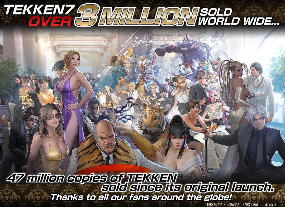 3D格斗游戏扛鼎之作: 《铁拳7》 销量已突破三百万套