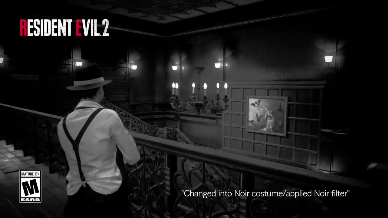 《生化危机2:重制版》两位主角新DLC服装展示