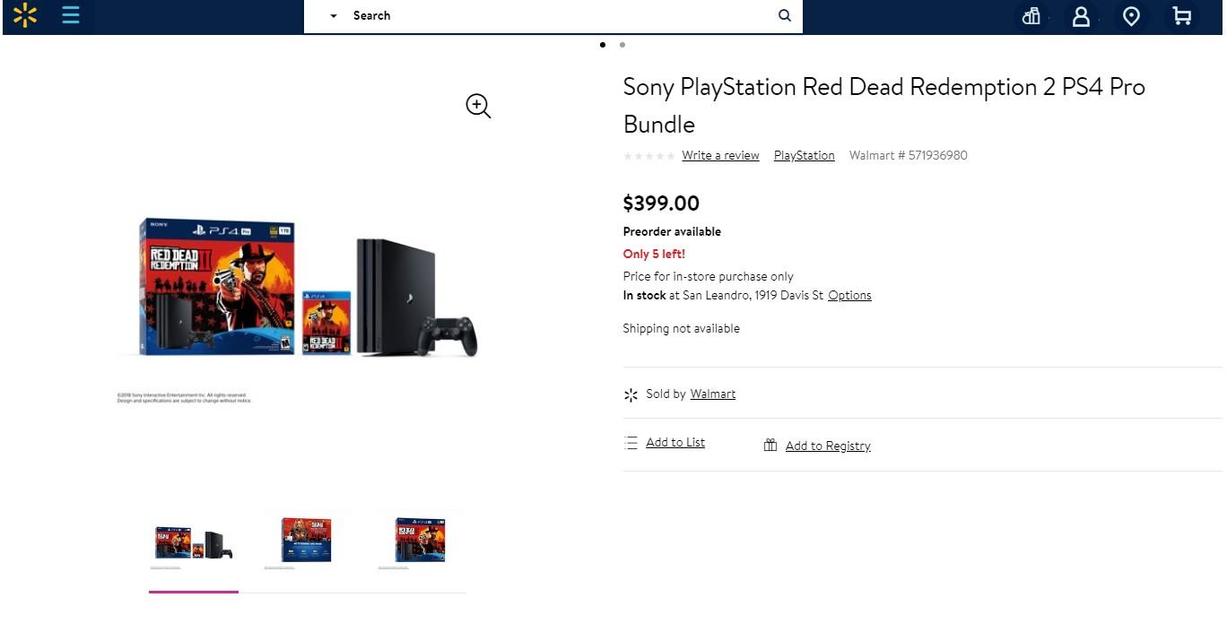 就是不服索尼的霸道 大镖客2捆绑Xbox one零售商大放血