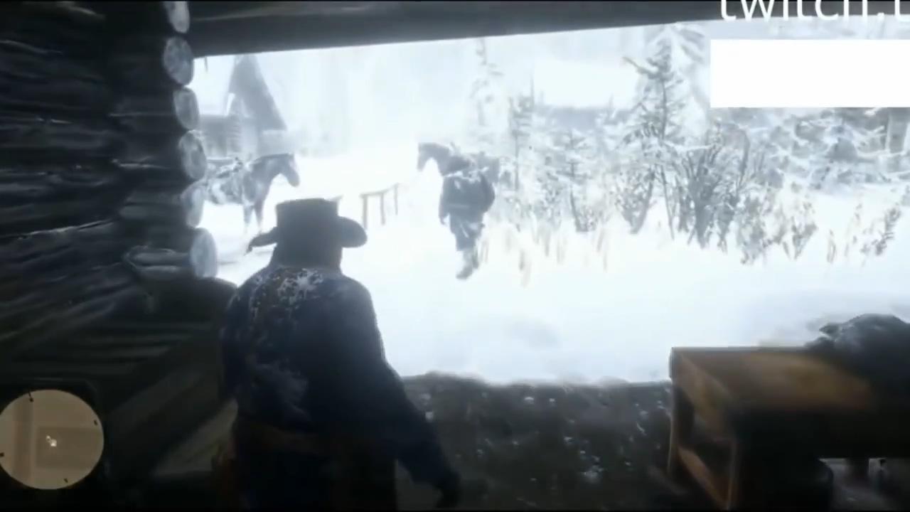 《荒野大镖客2》泄露视频 雪山帮派火拼和打猎