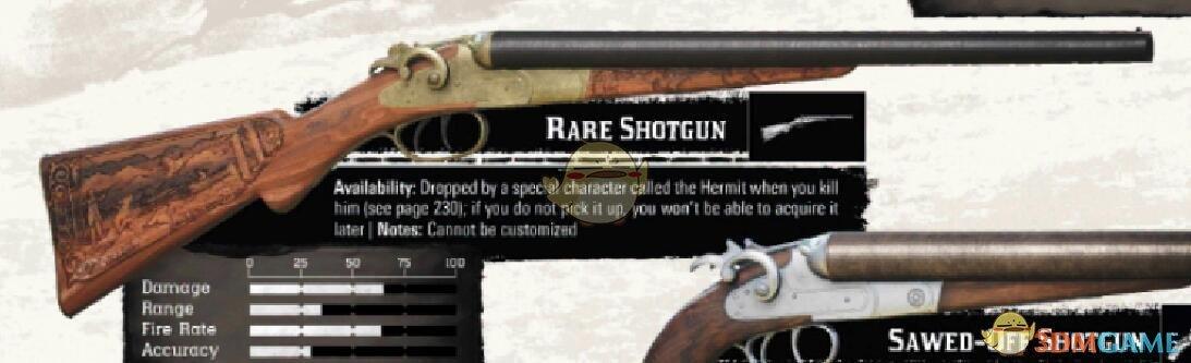 《荒野大镖客2》全武器性能图鉴汇总