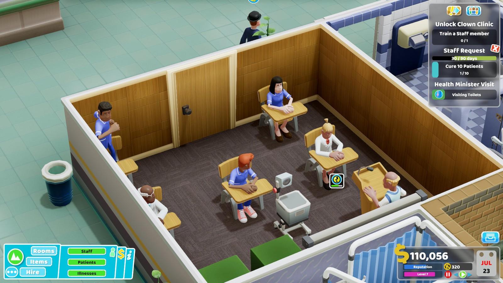 想怎么玩就怎么玩!《双点医院》更新加入沙盒模式