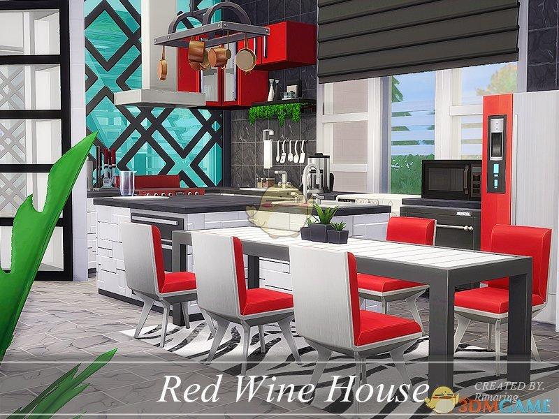 模拟人生4 红白双色现代住宅MOD