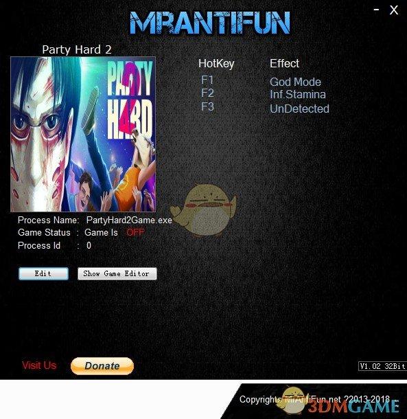 《疯狂派对2》v1.0.012r三项修改器[MrAntiFun]