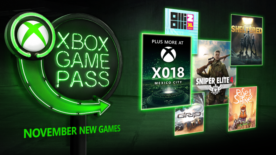 11月又有5款佳作加入Game Pass大家族
