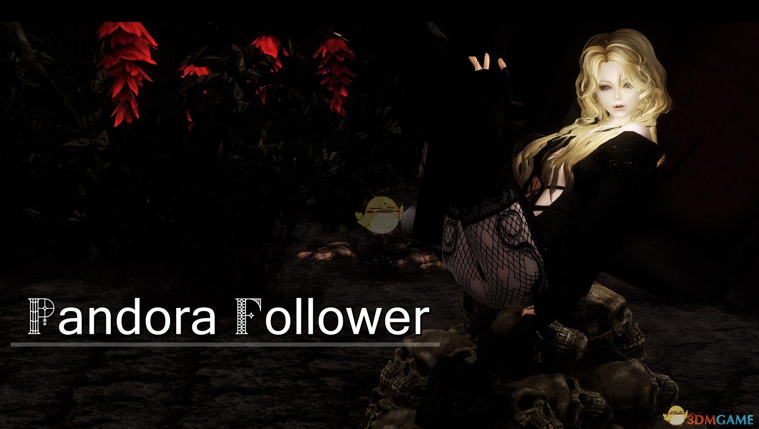 《上古卷轴5:天际》Pandora金发萝莉脸吸血鬼独立随从MOD