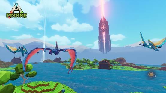 360度拉轰旋转飞行,《方块方舟》新推亚种空中生物