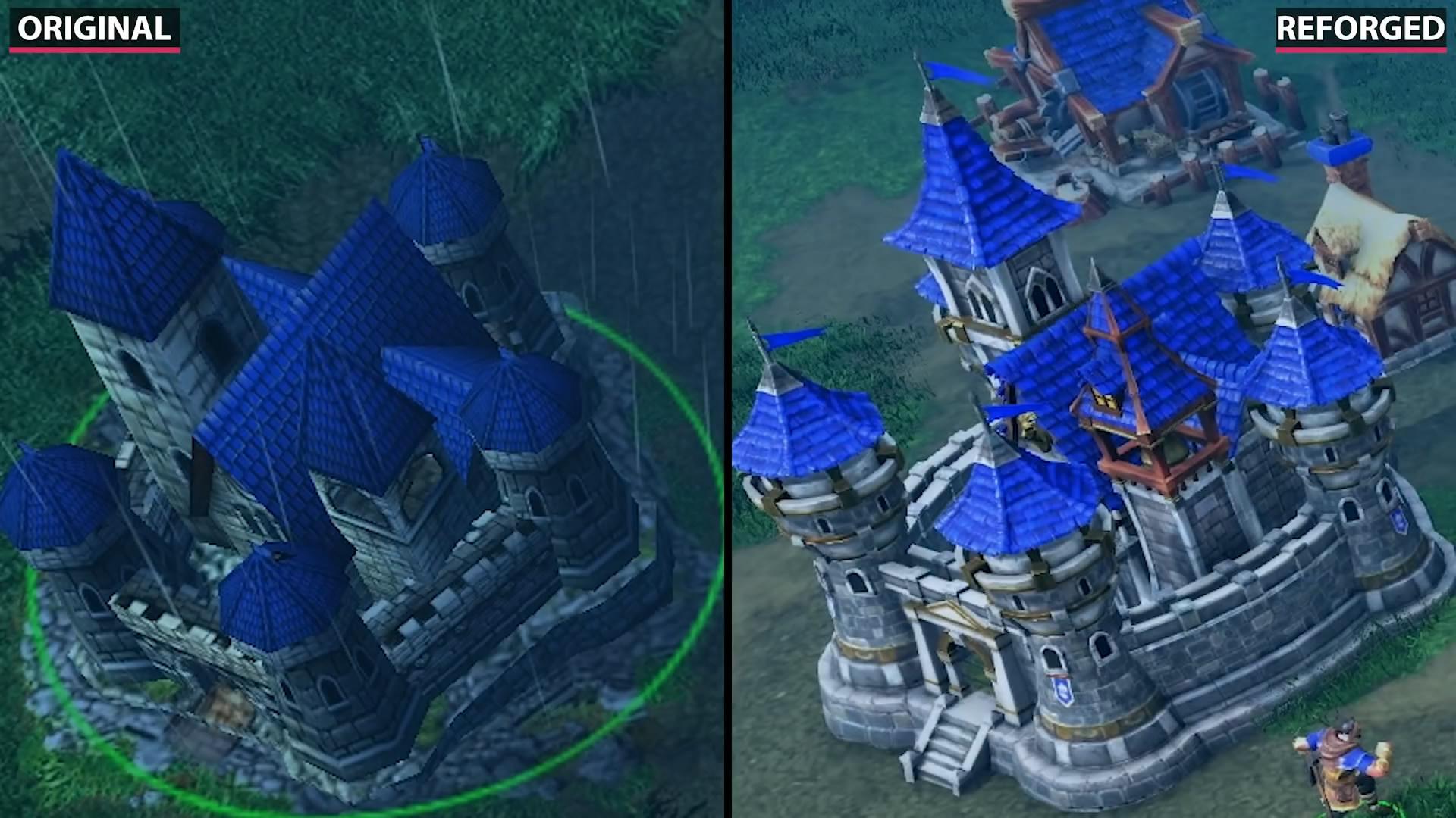 《魔兽争霸3》重制版与原版对比视频 重制画面效果更出色