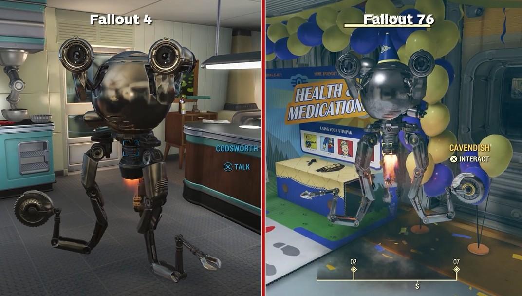 写轮眼上吧!IGN发布《辐射4》和《辐射:76》画面对比