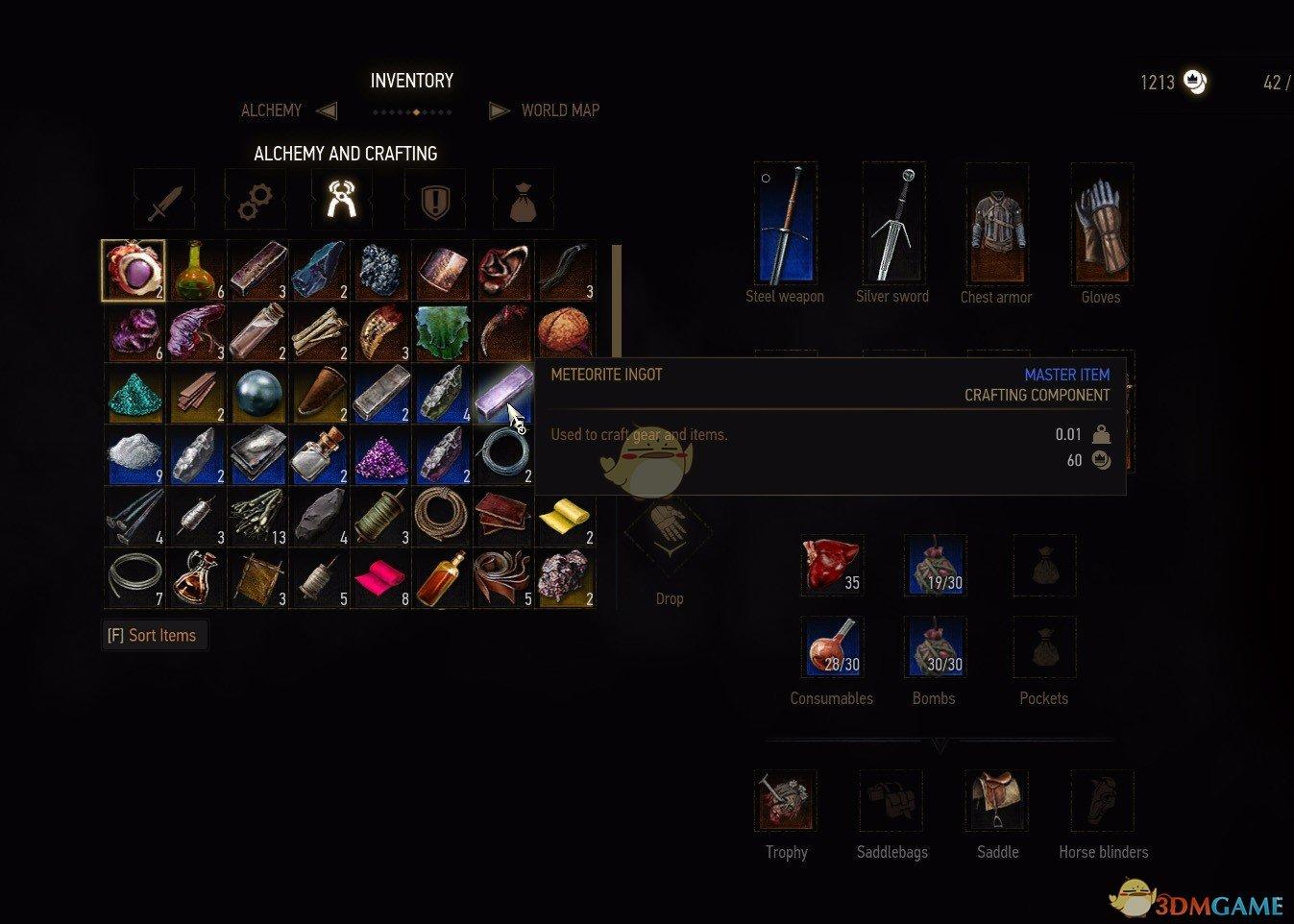 《巫师3:狂猎》改变物品重量MOD