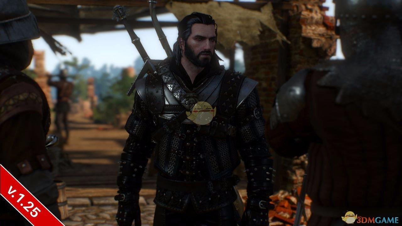 《巫师3:狂猎》黑头发黑胡子杰洛特MOD