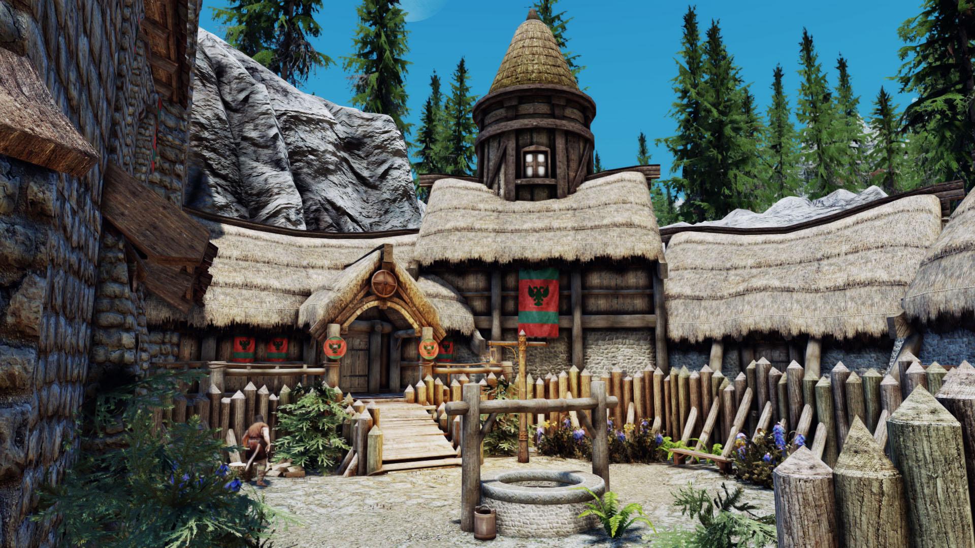 《上古卷轴5:天际》最新MOD 玩家打造自己的堡垒要塞