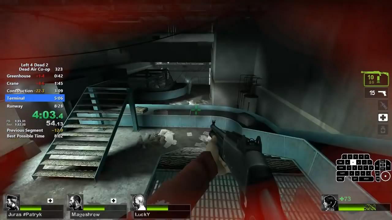 技巧独特 《求生之路2》寂静时分战役7分53秒速通