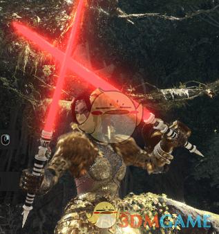 《怪物猎人:世界》星球大战红色双剑MOD