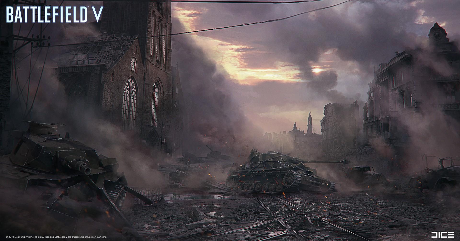 《战地5》精美原画合集欣赏 战火连天满目疮痍!
