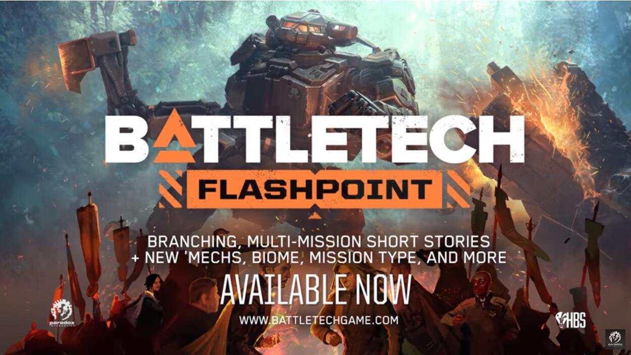 "<b>Paradox《暴战机甲兵》首弹拓展包""Flashpoint""上线</b>"