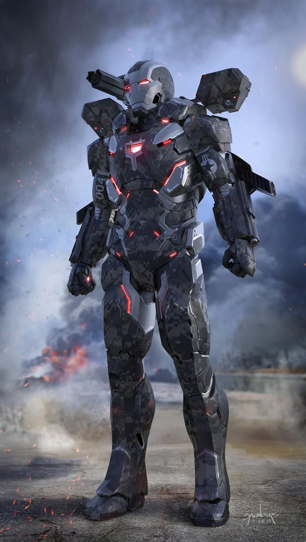 自制钢铁侠战衣_《复仇者联盟3》早期概念图 钢铁侠穿超强战衣战灭霸_3DM单机