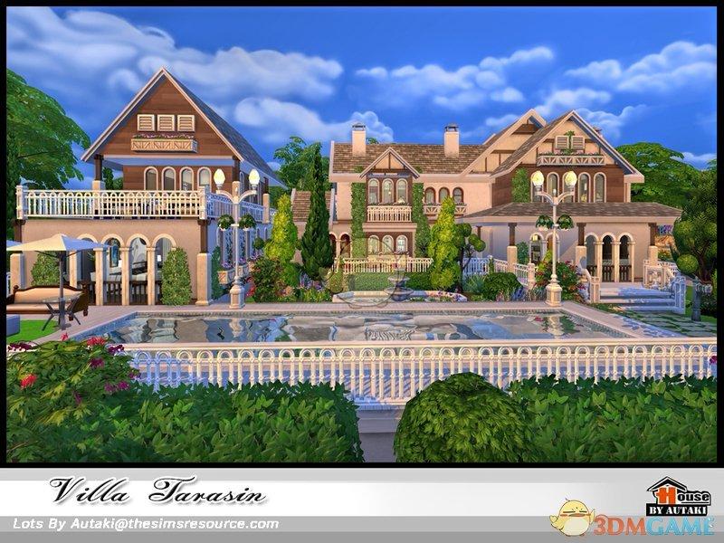 作者在游戏中添加了一个非常a作者的大型别墅,这个山水的占地面积非常枣庄别墅别墅图片