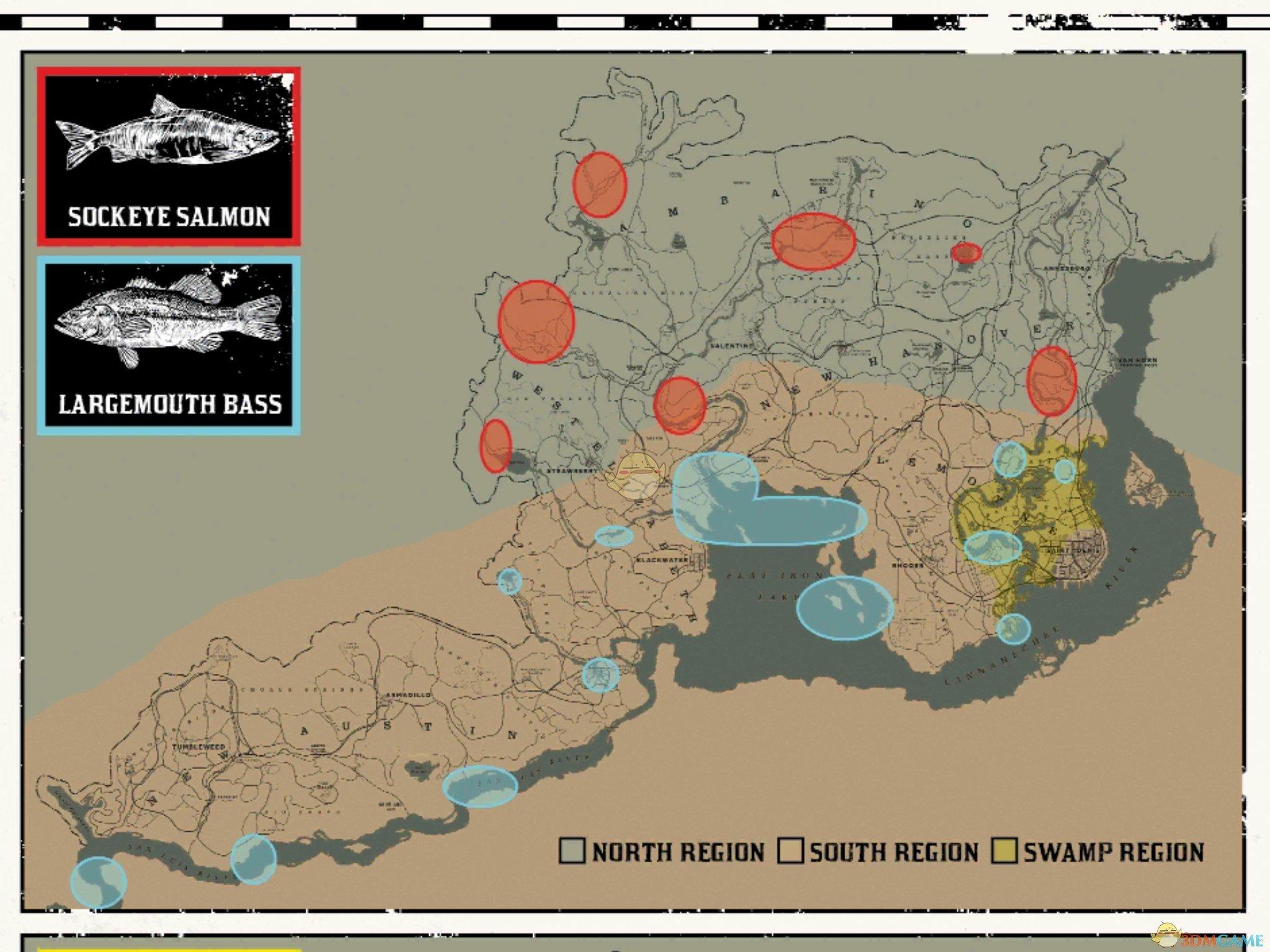 《荒野大镖客2》生存大师10挑战任务钓鱼位置分享