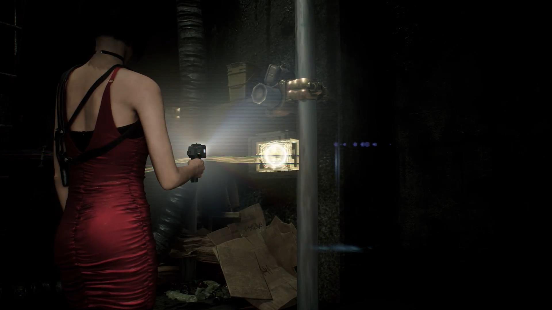 《生化危機2重制版》艾達王赤色短裙視頻露臉