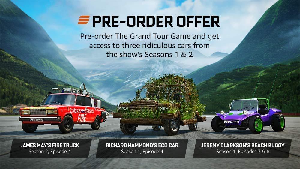 亚马逊自家竞速游戏《The Grand Tour Game》 开放预购
