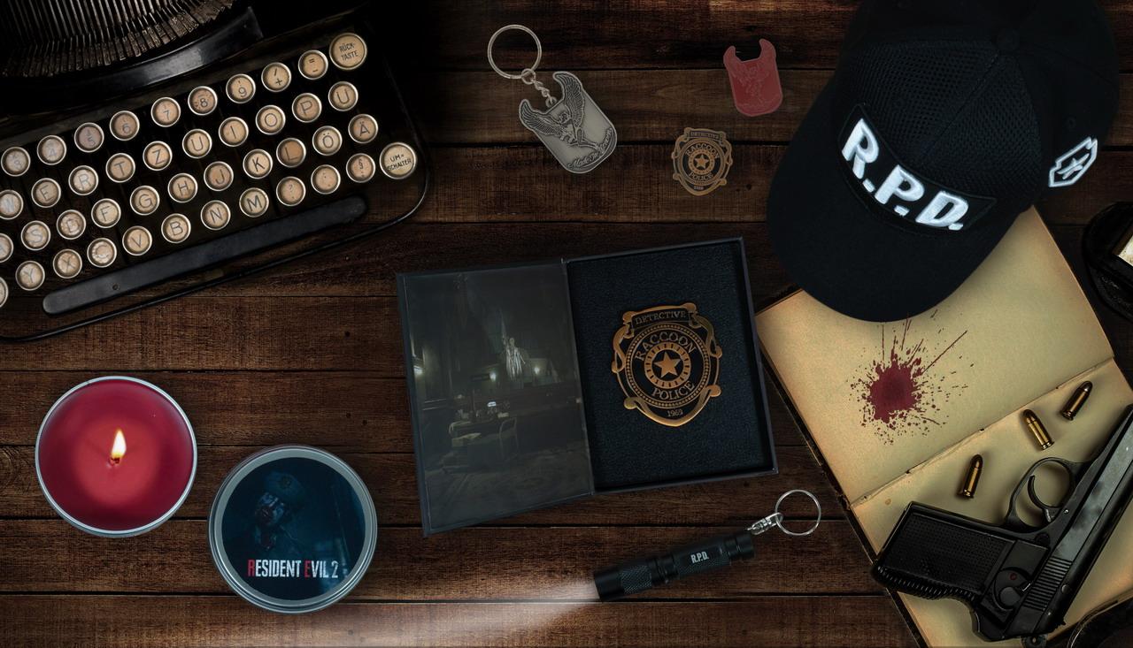 《生化危机2:重制版》周边亮相 T恤警徽帽子蜡烛全都有