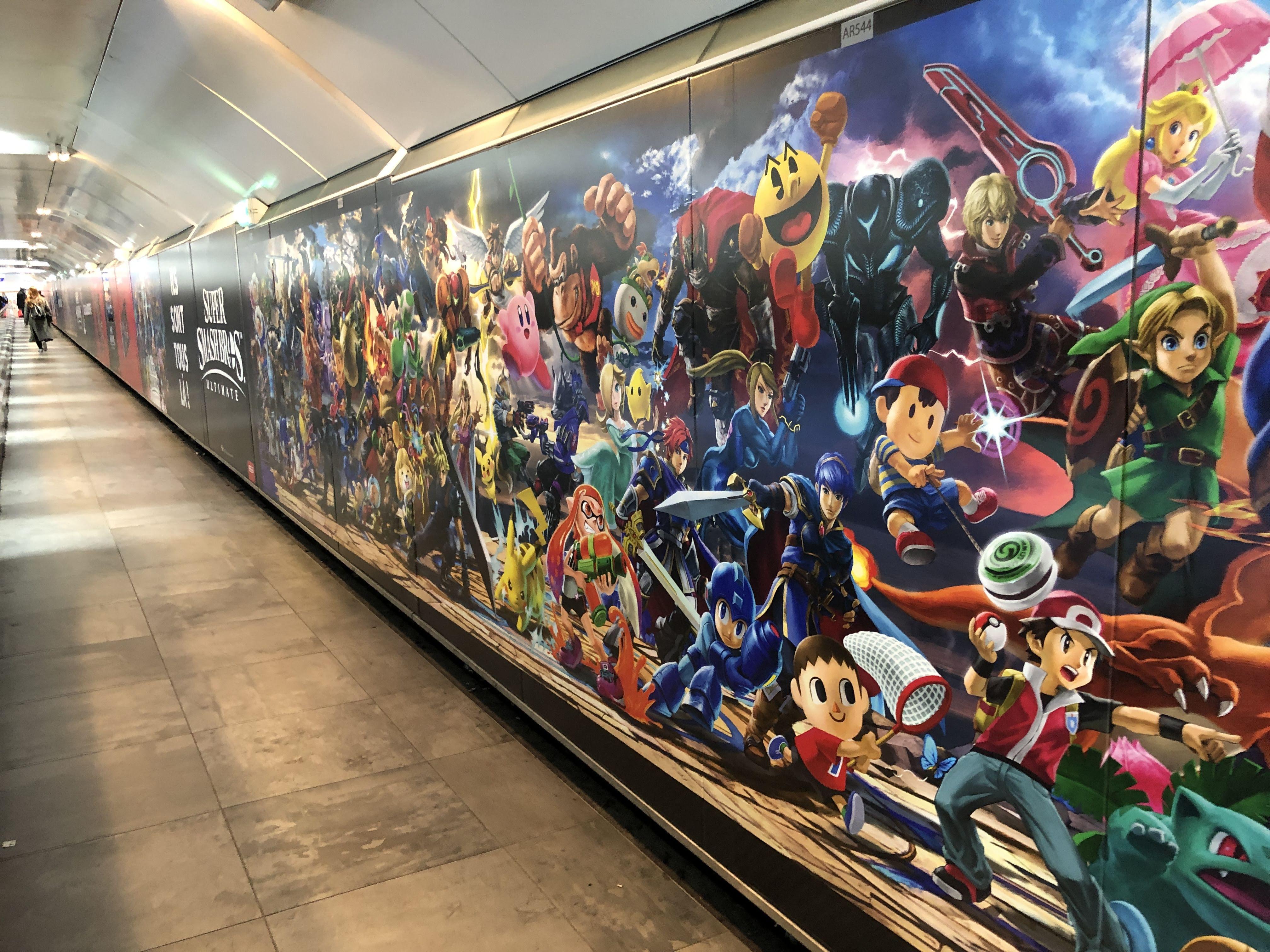 《任天堂明星大乱斗特别版》即将发售 巴黎地铁站贴满宣传海报
