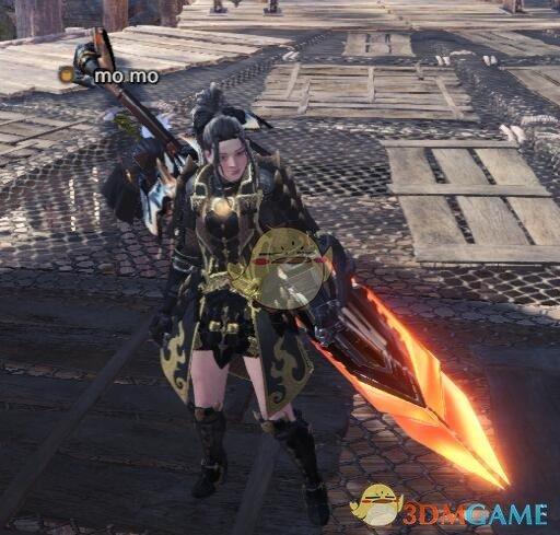 《怪物猎人:世界》橙色武士大剑MOD