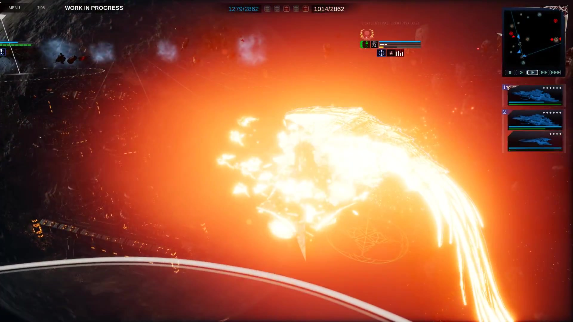 《哥特舰队:阿玛达2》BETA测试开启 实机演示放出