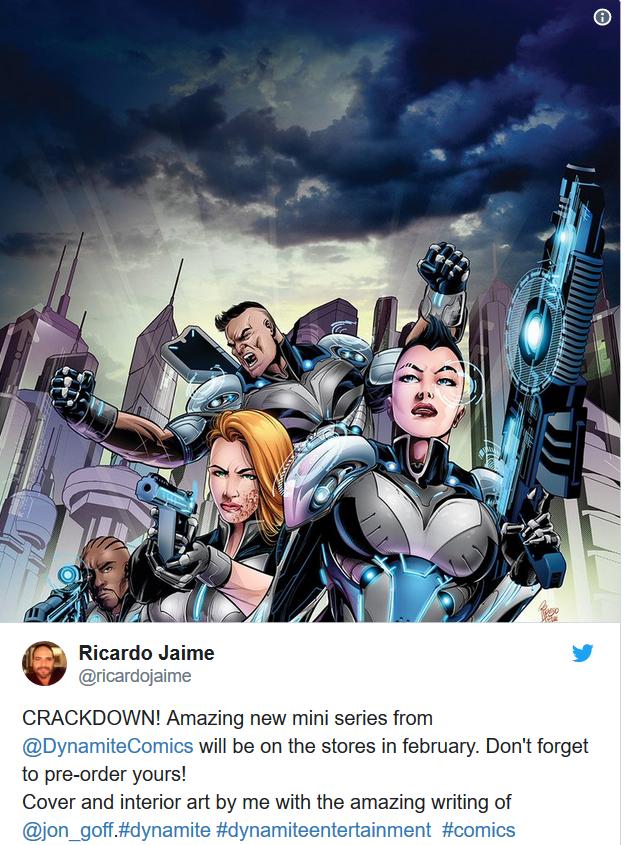 《除暴战警3》上市同月将发行Dynamite公司同名漫画