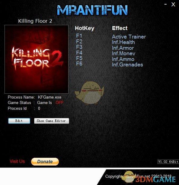 《杀戮空间2》v1075B五项修改器[MrAntiFun]