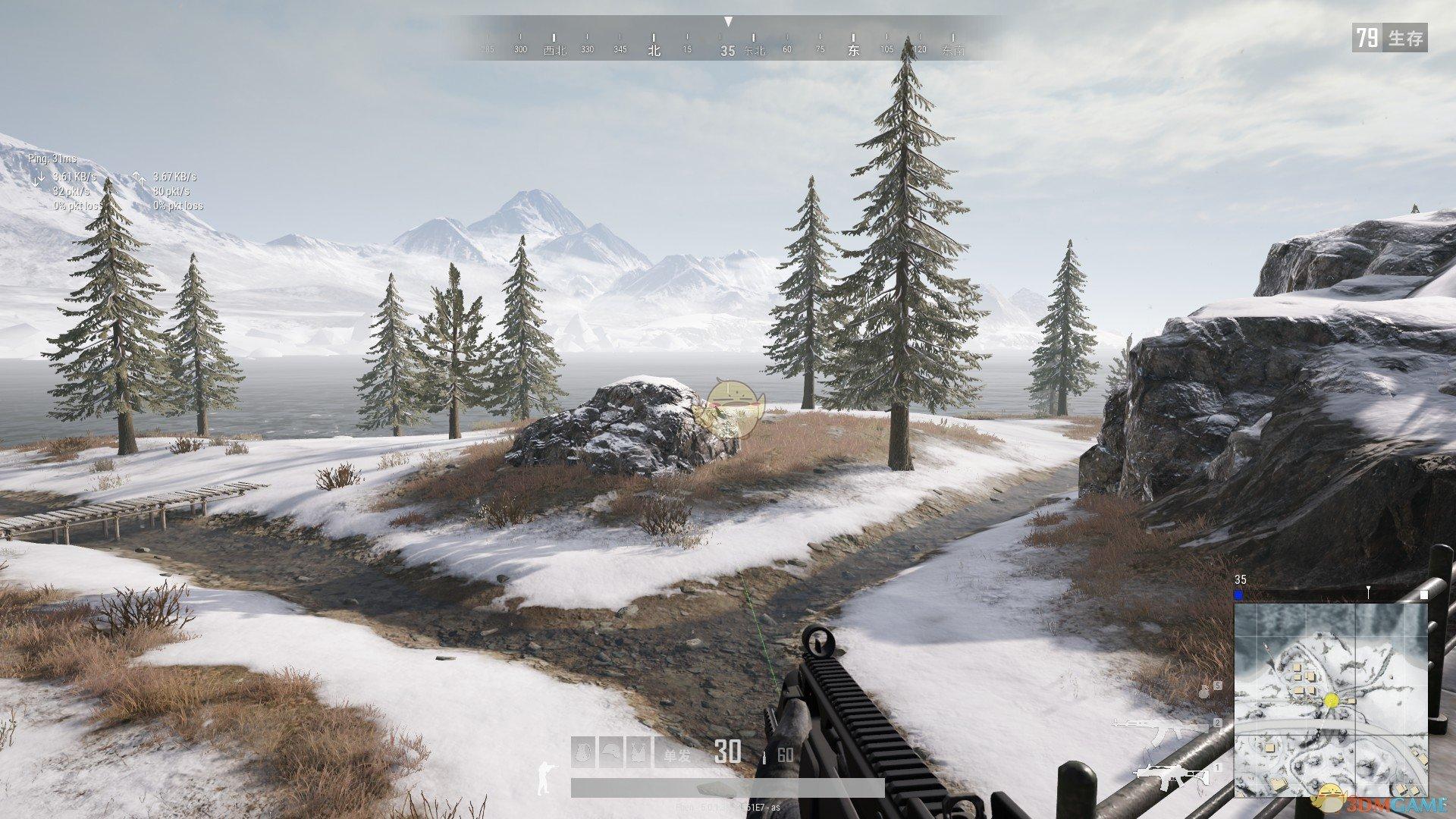 《绝地求生》新地图雪地游玩测评